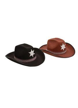 Sombrero de vaquero adulto marrón - 55201603