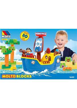 Barco pirata + 30 bloques t.v. - 26516451