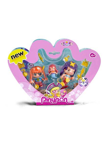 Pinypon pack 3 piratas y sirenas - 13003058
