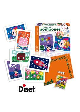 Colorea con pompones - 09563493