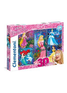 Puzzle 104 3d + gafas princess - 06620609