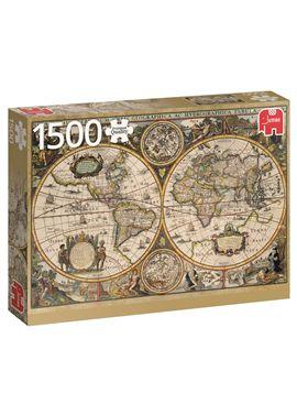 Puzzle 1500 mapa del mundo 1630- jumbo - 09518345(1)