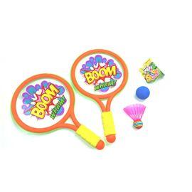 Set 2 raquetas 39 x 23 pelota y pluma - 87854204