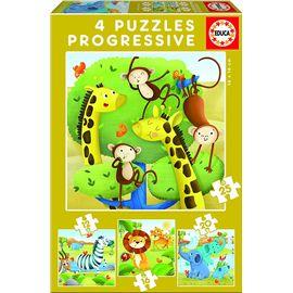 Puzzle 12-16-20-25 animales salvajes - 04017147