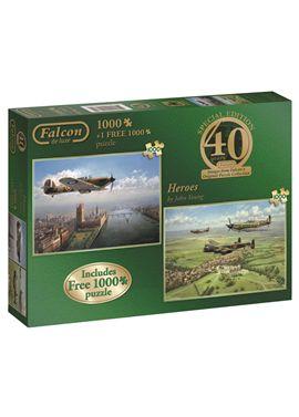 Puzzle 2x1000 40th aniversary heroes - jumbo - 09511135