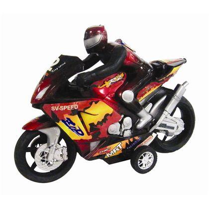 Moto con motorista friccion 24 cm - 89815162(1)