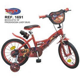 "Bicicleta 16"" prodigiosa ladybug - 34301691"