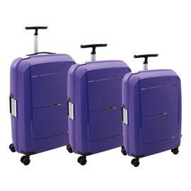 Set 3/trolleys pp 55+68+79 cm.4r.movom td violeta - 75824339