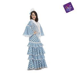 Flamenca huelva turquesa s mujer ref.202951