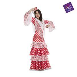 Flamenca rocío rojo xl mujer ref.203863