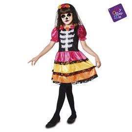 Catrina esqueleto 7-9 años niña ref.203175 - 55223175