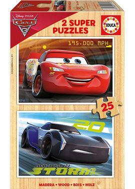 Puzzle 2 x 25 cars 3 madera - 04017173