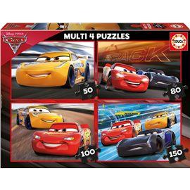 Puzzle multi 4 cars 3 ( 50-80-100-150) - 04017179