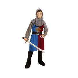 Caballero medieval azul y granate 5-6 añ ref.20115