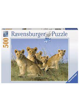 Puzzle 500 cuccioli di leone - 26914791