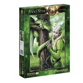 Puzzle 1000 anne stokes verde - 06639463