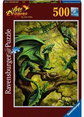 Puzzle 500 dragon verde - 26914789