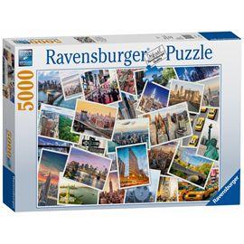 Puzzle 5000 postales new york - 26917433