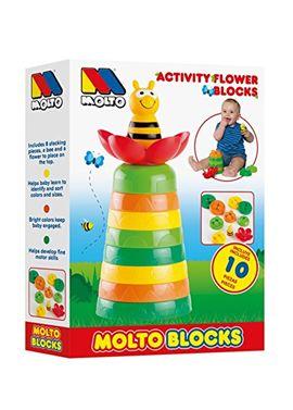 Juego de bloques en forma de flor