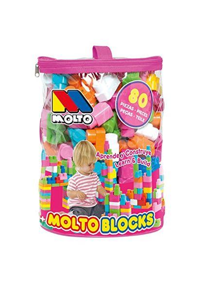 Bolsa rosa blocks 80 piezas - 26513461