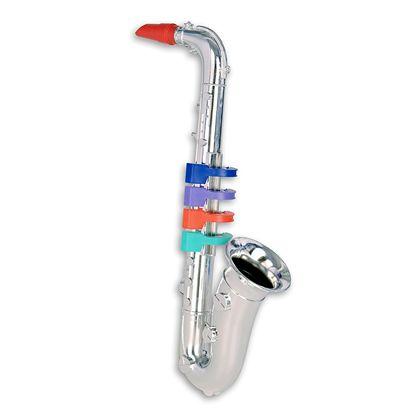 Saxofon plateado 4 notas 37 cm - 07923931