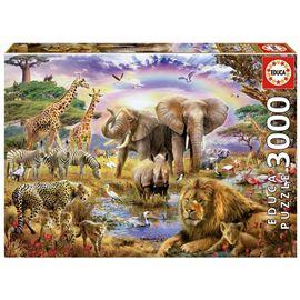 Puzzle 3000 abrevadero bajo el arco iris