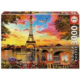 Puzzle 3000 puesta de sol en parís