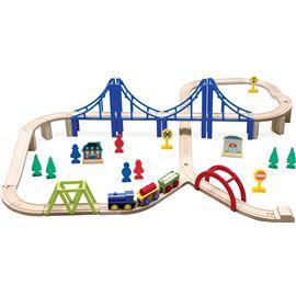 Tren de madera 60 piezas