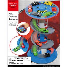 Garaje infantil con 5 coches