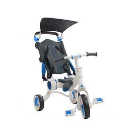 Triciclo galileo blanco + azul plegable