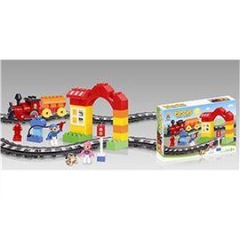 Tren construcción infantil 13 cm c/sonido 47 pzas