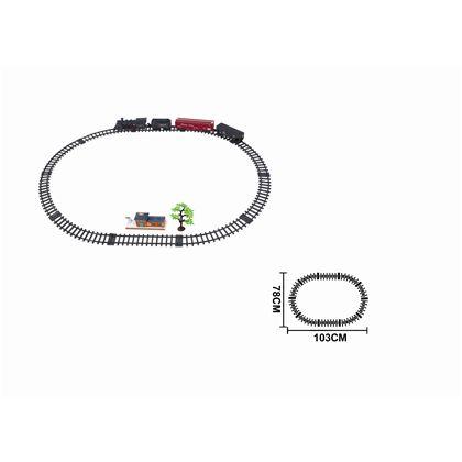 Circuito tren con luz, sonido y humo, 17 pzas - 87870761(1)