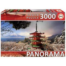 Puzzle 3000 monte fuji y pagoda chureito, japón pa