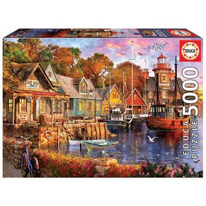 Puzzle 5000 atardecer en el puerto - 04018015