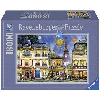 Puzzle 18000 paseo nocturno paris - 26917829