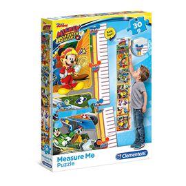 Puzzle mickey 30 piezas y medidor