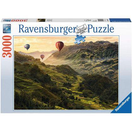 Puzzle 3000 globos por asia - 26917076