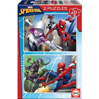 Puzzle 2x48 spider-man fsc(r) - 04018099