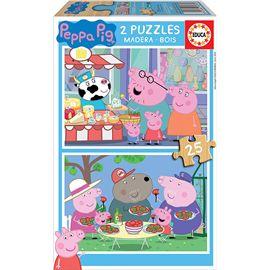 Puzzle 2x25 peppa pig