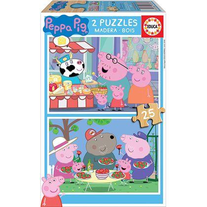 Puzzle 2x25 peppa pig - 04018078