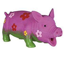 Cerdo látex floreado sonido original 20 cm