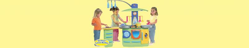 Cocinas y juguetes de imitación