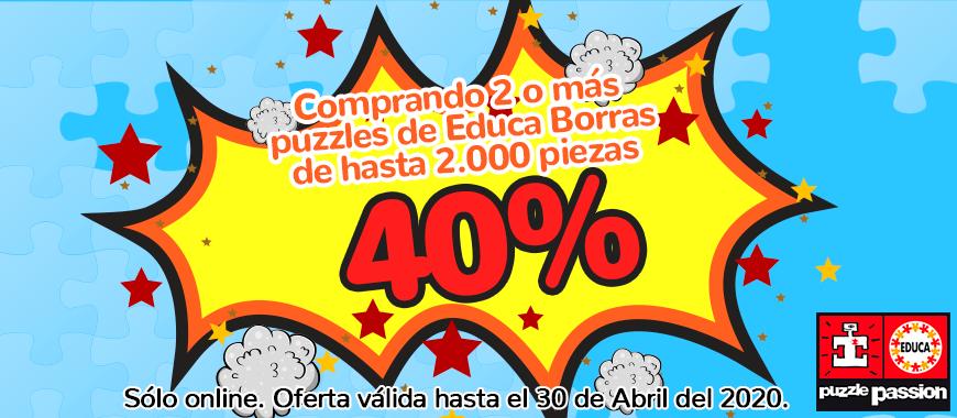 Promo 40% descuento puzzle Educa Borras