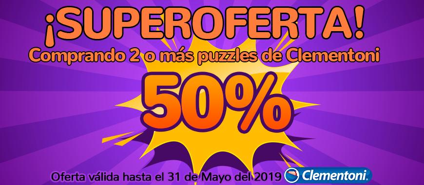 Promo 50% descuento puzzle Clementoni