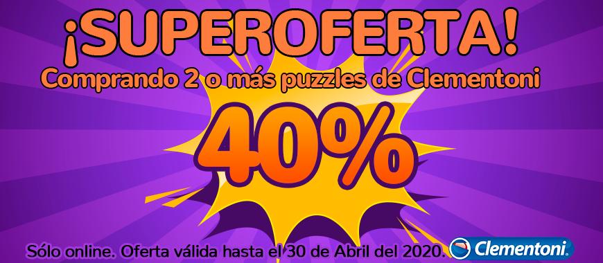 Promo 40% descuento puzzle Clementoni